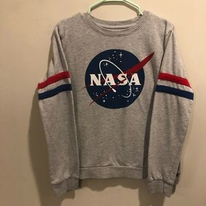 NASA outer space sweatshirt mighty fine gray